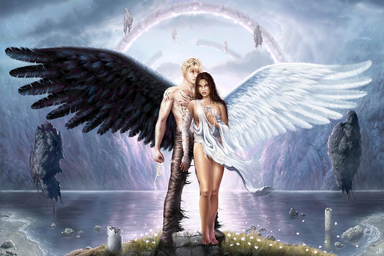 Открытки ангел и демон