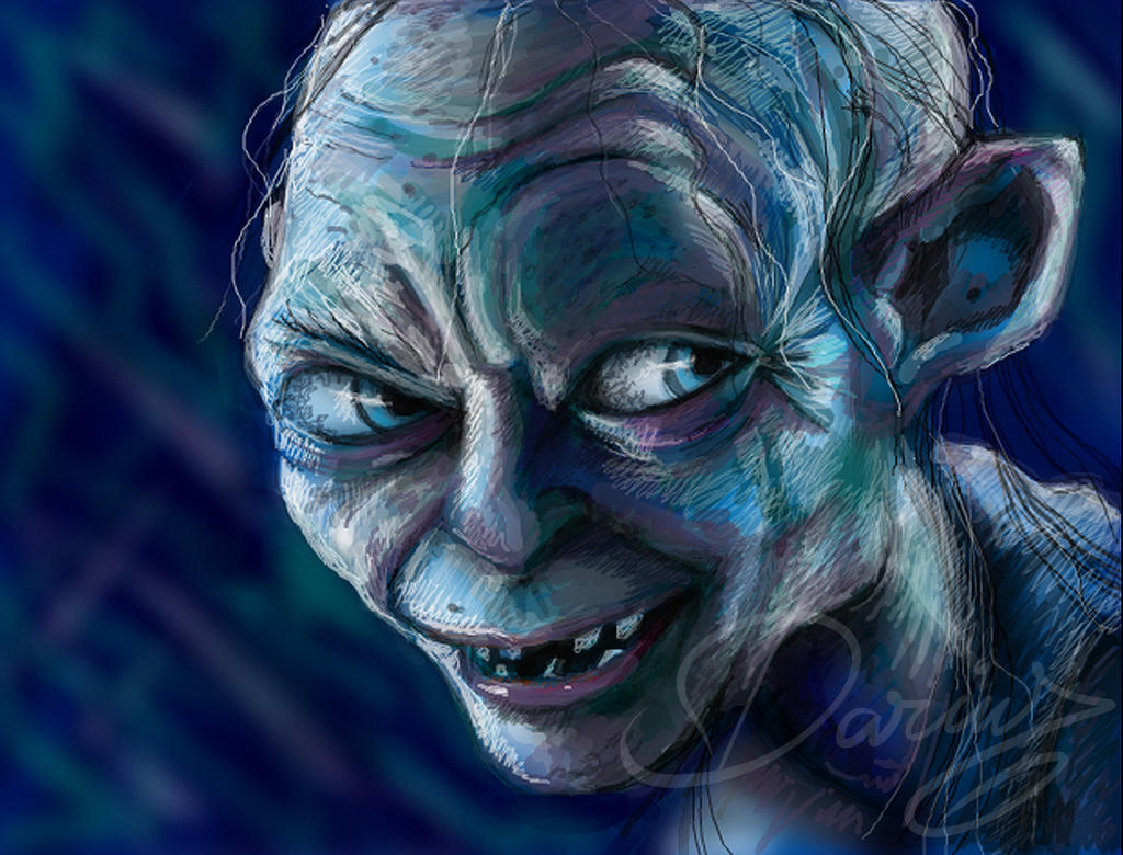 how to draw gollum from lord of the rings