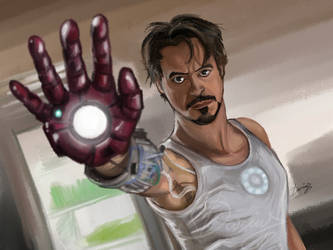Tony Stark - Iron Man by DarDesign