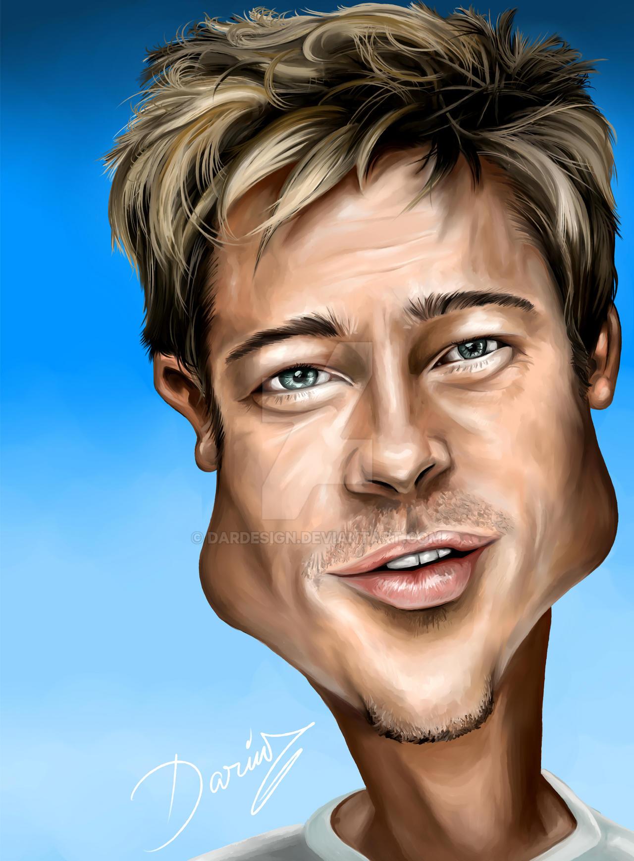 Brad Pitt Caricature by DarDesign