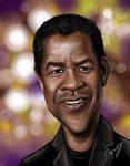 Denzel Washington Caricature