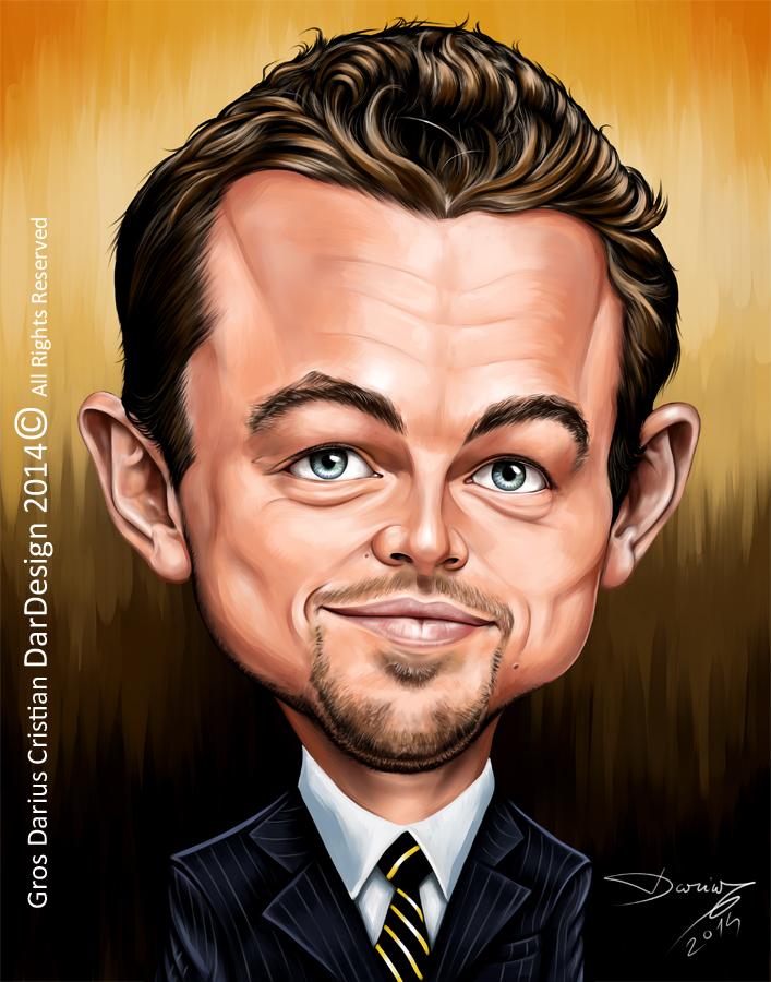 Leonardo DiCaprio Caricature by DarDesign