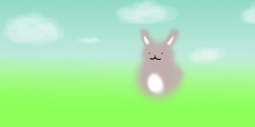 Bunny in a field by KaikouYami