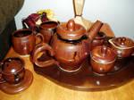 wheel thrown stoneware tea set