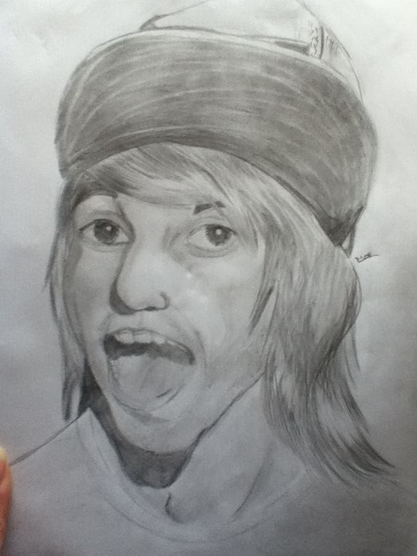 Alex Gaskarth Sketch *re-uploaded* by MeganUzumaki