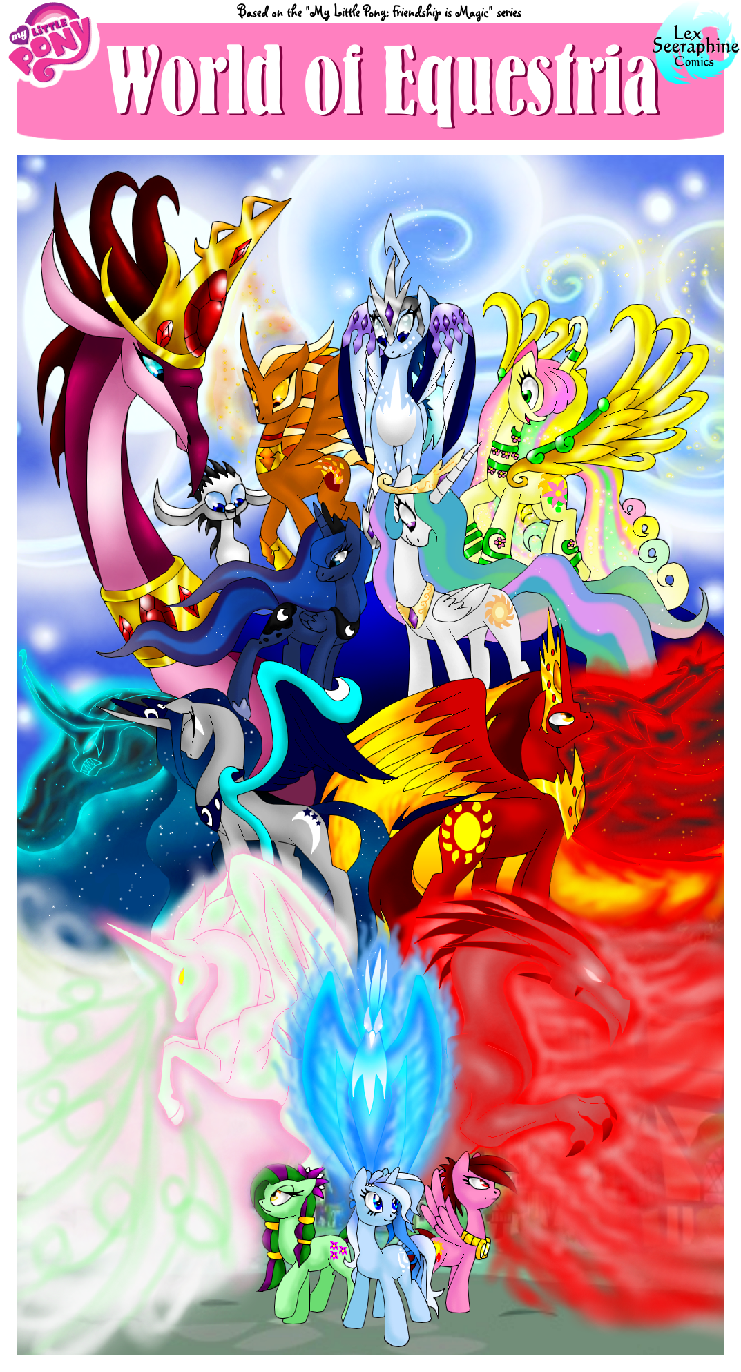 MLP- World of Equestria -COMIC COVER- by Seeraphine