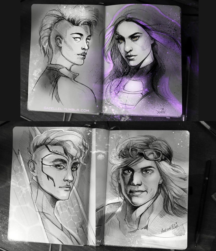 X-MEN by AndreevaPolina