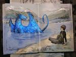 Eragon and Saphira. Leona Lake