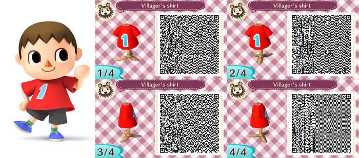 Villager shirt QR code