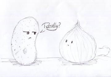 Potatoe and Onion by EmissixD