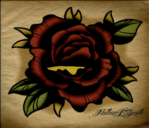 Neo Traditional Rose by NathanLeeSmithNeo Traditional Flash Art