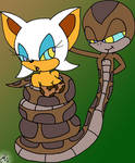 Kaa Sonic and Rouge Painted