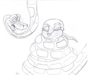 Kaa and Marlene sketch by lol20