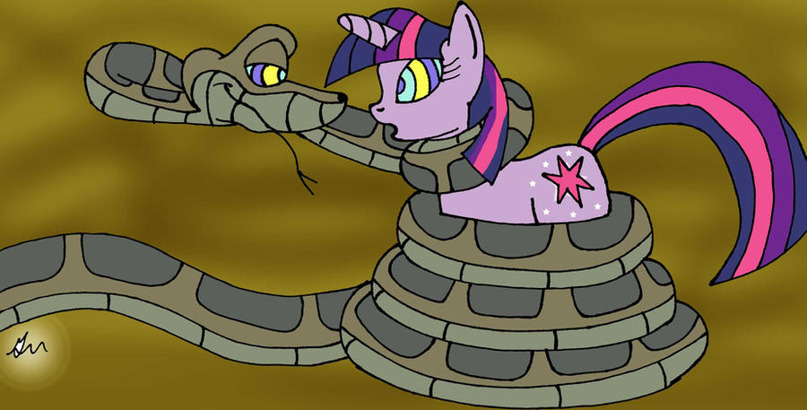 Kaa meets Twilight Painted by lol20