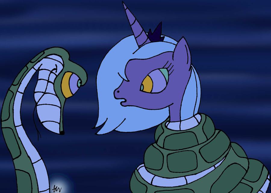 Kaa and Luna Pony by lol20