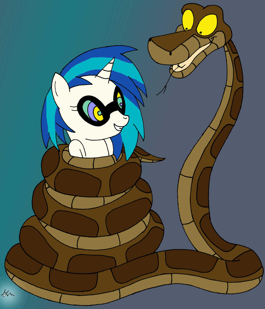 Kaa and Vinyl by lol20