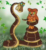 Kaa and Jungle Becky Painted by lol20