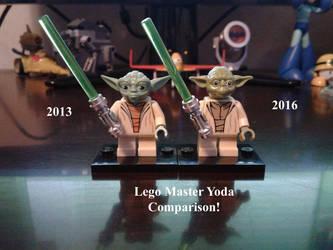 Lego Master Yoda Comparison! by lol20