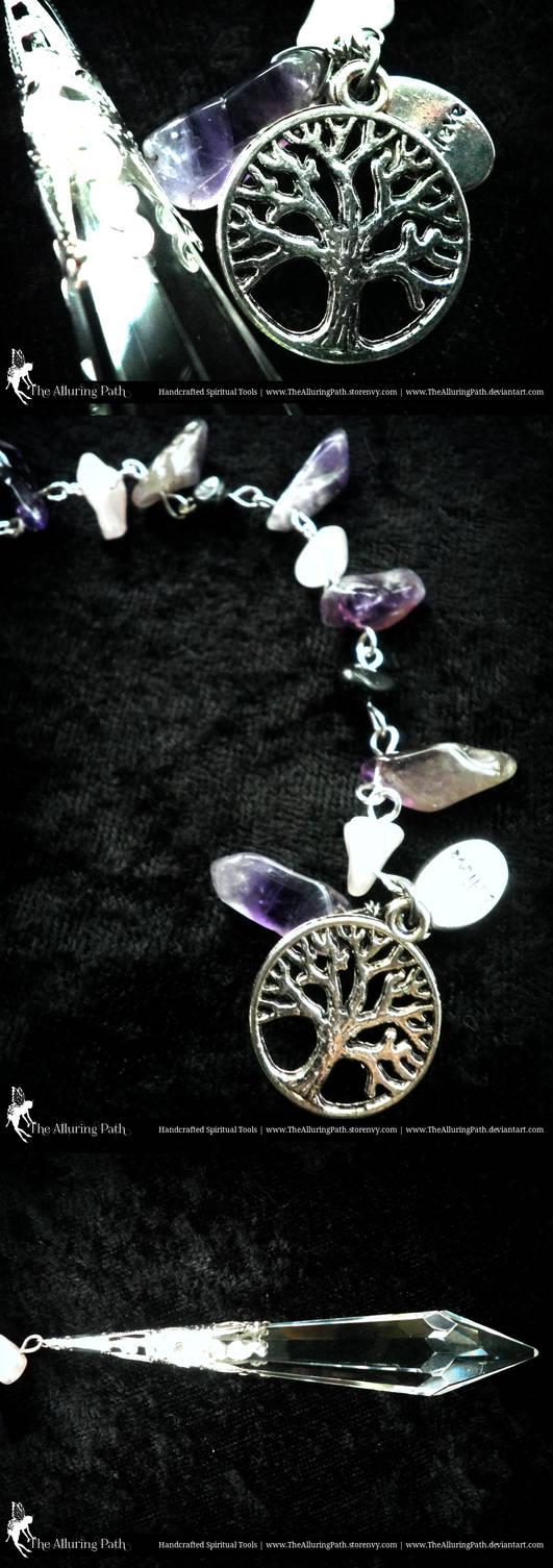 Amethyst, Rose Quartz, Custom Pendulum