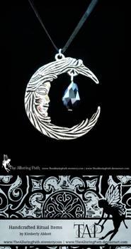 Moon Goddess Black Crystal Necklace