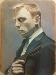 James Bond in pastel by deviantartistick