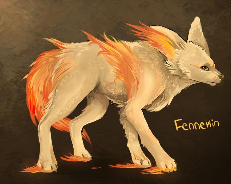 Fennekin by MapleSpyder