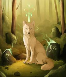 White Wolf by MapleSpyder