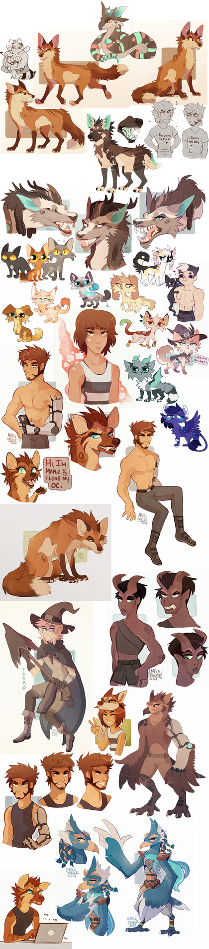 Sketchdump XII by MapleSpyder