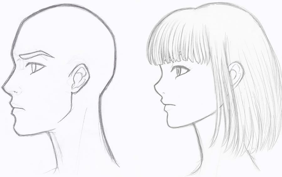 Profile Sketches By Divinesaint On Deviantart