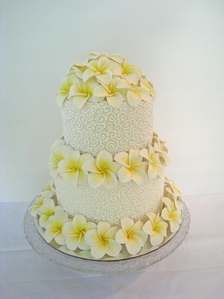 Plumeria Cake by Kiilani on DeviantArt