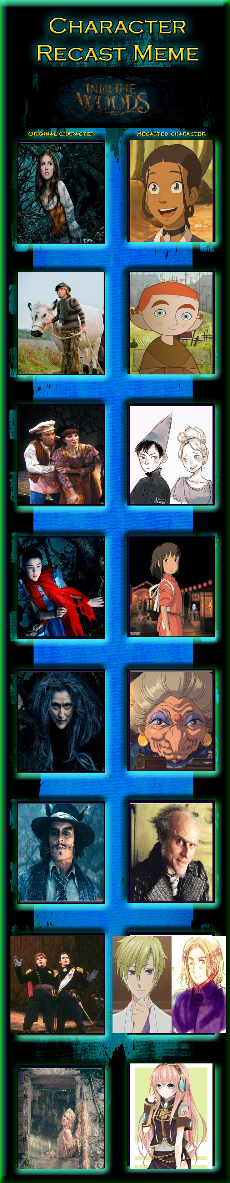 Into The Woods Character Recast Meme