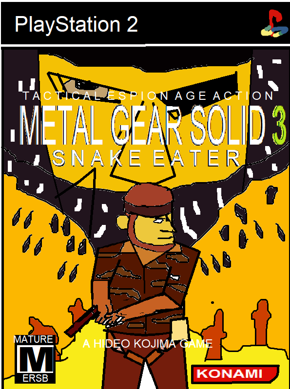 Paint Boxart 1 Metal Gear Solid 3 Snake Eater By