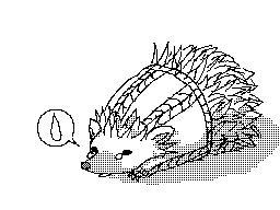 Sad Little Hedgehog (gif) by DaintyMendax