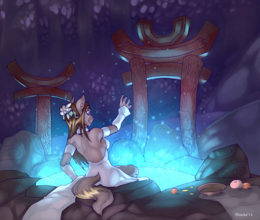 . Priestess Of The Moon . by Alimika