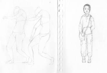 self portrait/ figure study by CucumberofGryffindor