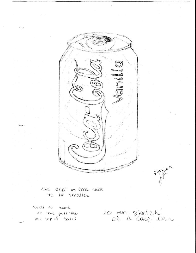 how to draw a coca cola can step by step