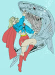 SG-Shark-Wrestle by Retro70sSupergirl