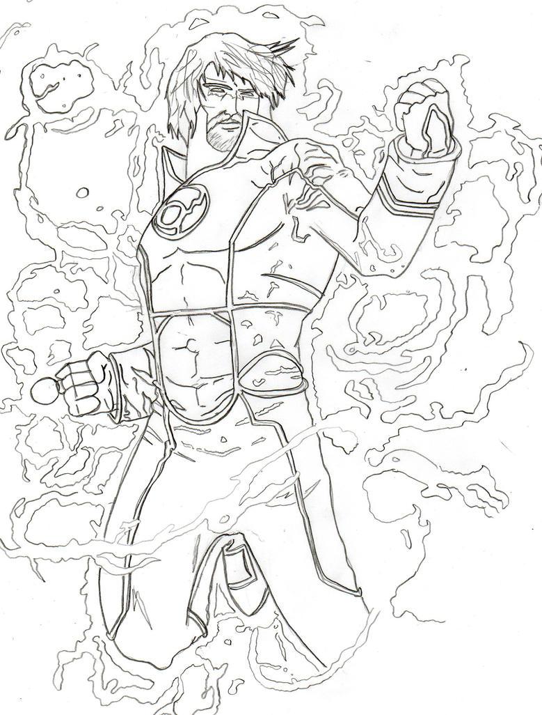 Sketch Guy Gardner's new look by Fernandogoku0