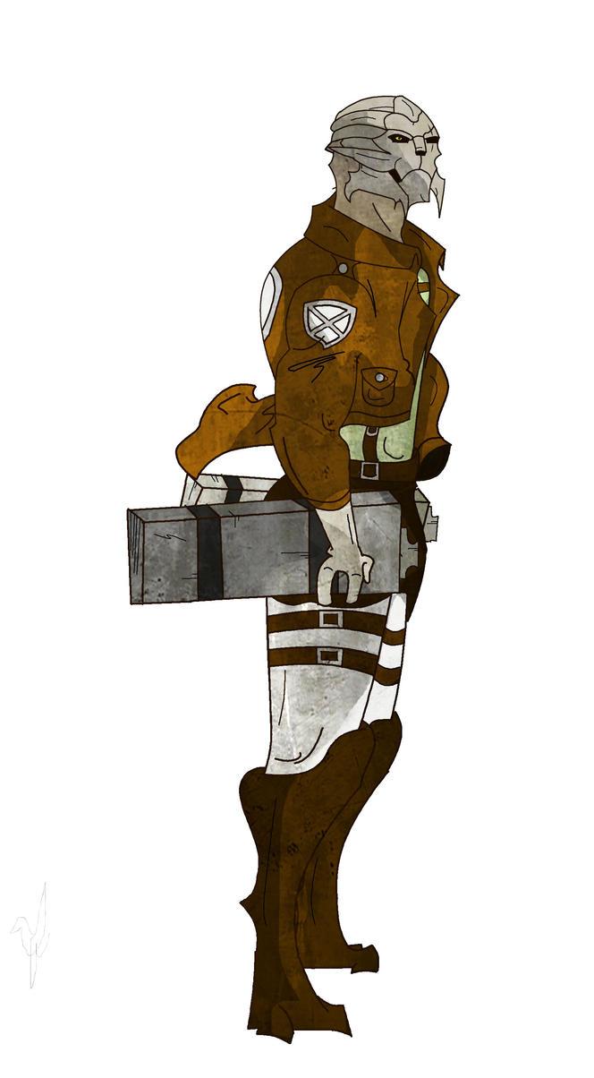 Attack on Titan: Mass effect Crossover by Fernandogoku0