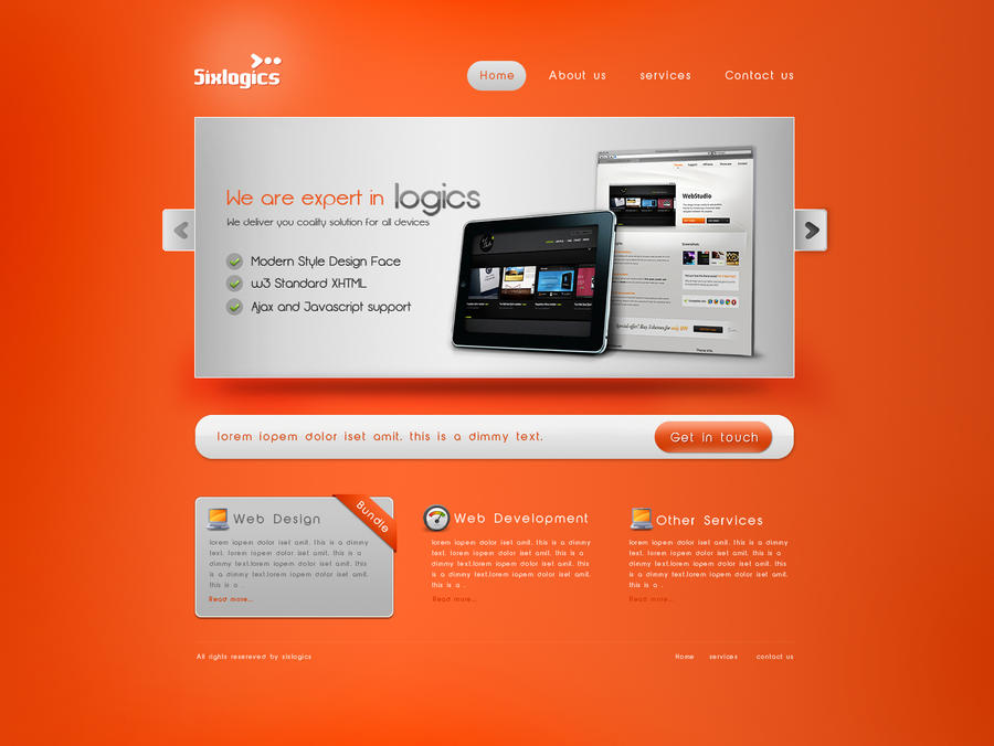 Sixlogics Web Template By Shagiie On DeviantArt - What is web template