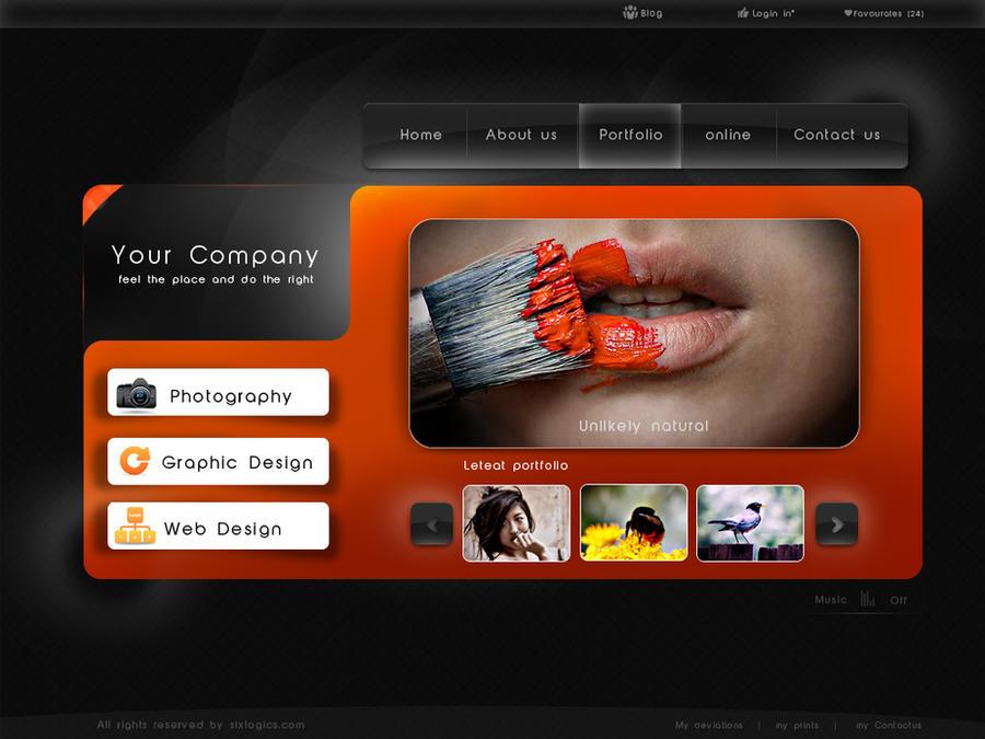 portfolio web template by shagiie on DeviantArt cUl9g4m2