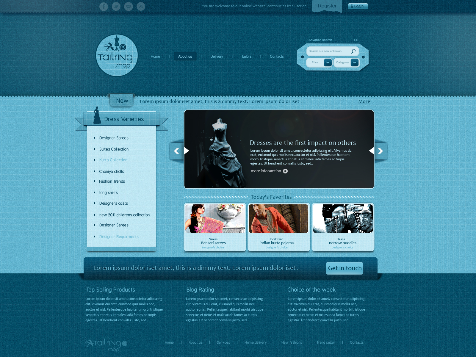 tailoring shop web template by shagiie on DeviantArt