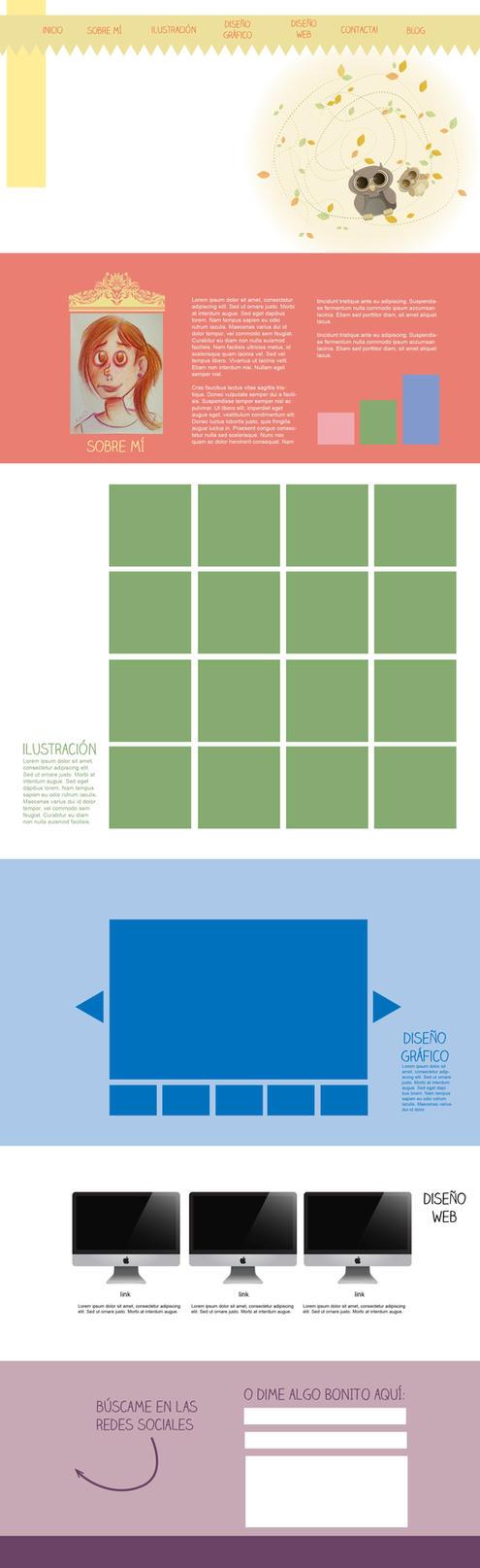 one page web design - la caca mola by Lizeeeee