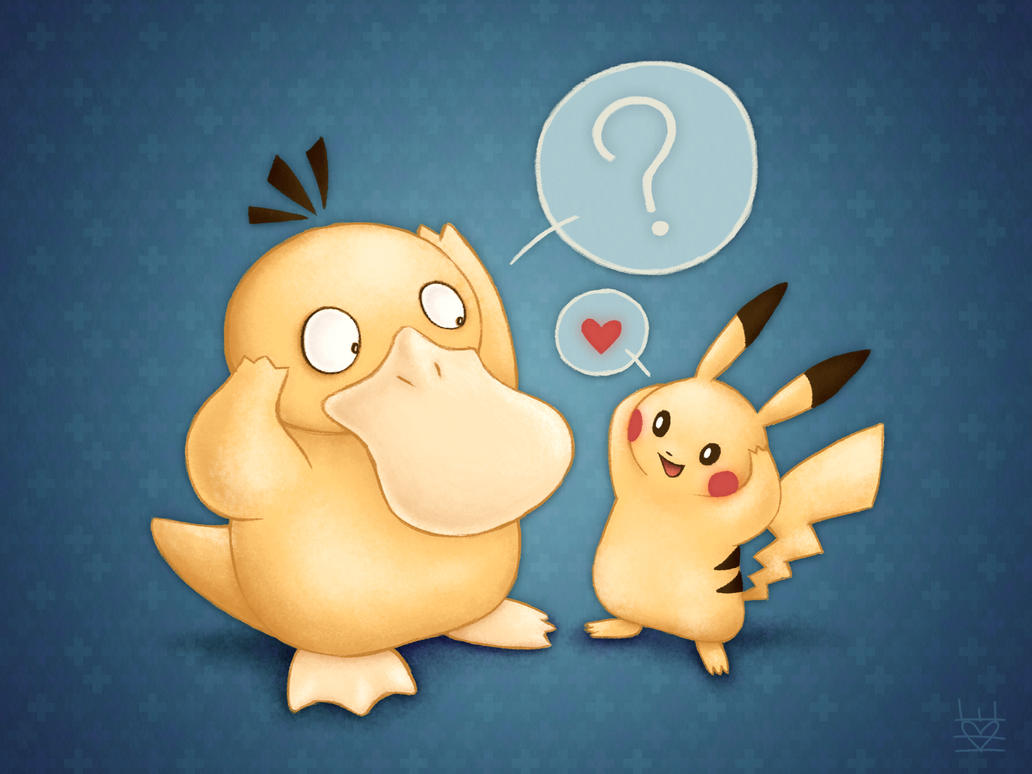 Psyduck + Pikachu by PandaAGoGo on DeviantArt