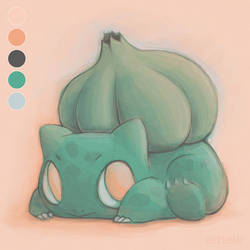 Bulbasaur Paint Test Practice by ErbyDraws