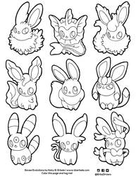Eeveelutions by ErbyDraws
