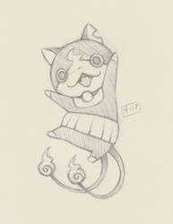 Jibanyan Sketch by ErbyDraws