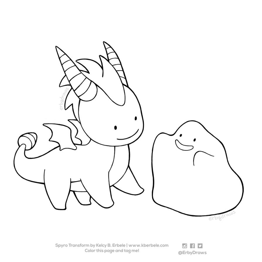 Spyro Transform! Coloring Page by ErbyDraws