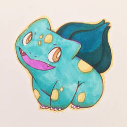 July Copic Colors Bulbasaur by ErbyDraws
