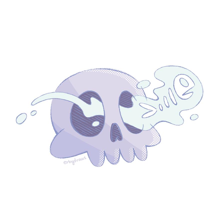 Spooky Skullfish by ErbyDraws